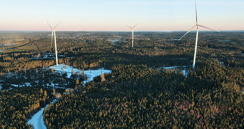 Laxåskogen Wind Park. A fresh approach to renewable energy.