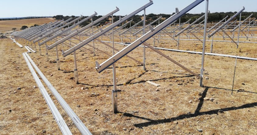 Start of construction work on one of the largest solar projects in Portugal.